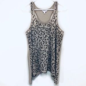 Charming Charlie | Leopard Print Flowy Tank Top